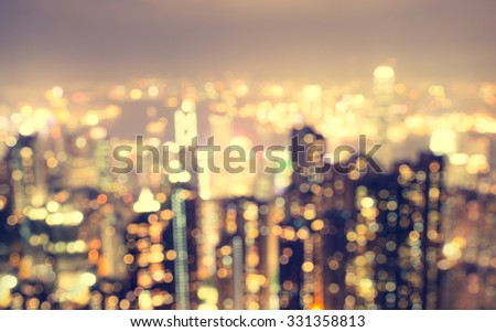 blurred city aerial view from the view point. blurred abstract background