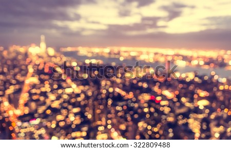 blurred city concept at blue...