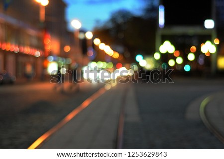 blurred city lines #1253629843