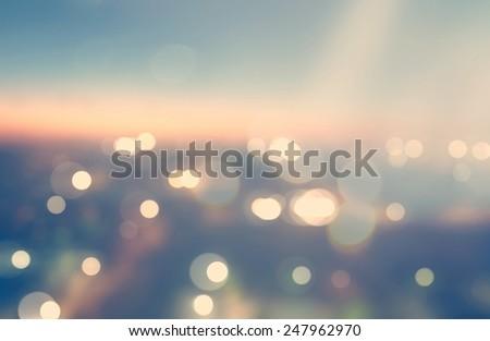 blurred cityscape background...