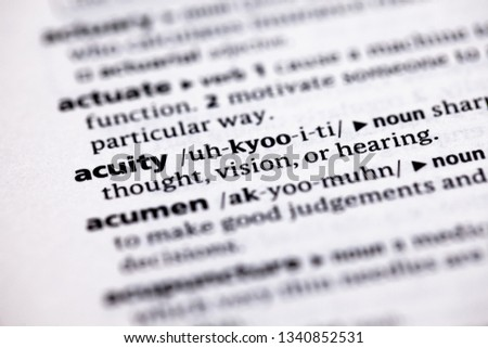 Close-up of word in English dictionary  Concept, definition