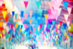 Blurred color of the flag in the carnival