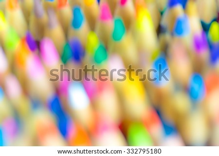 blurred colorful pencil for...