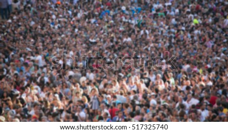 blurred crowd of people ...