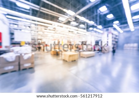 blurred customers shopping in...