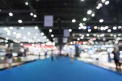 Blurred, defocused background of public event exhibition hall