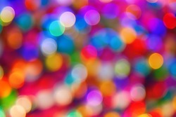 blurred defocused multi color lights