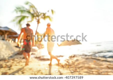 blurred defocused silhouette of ...