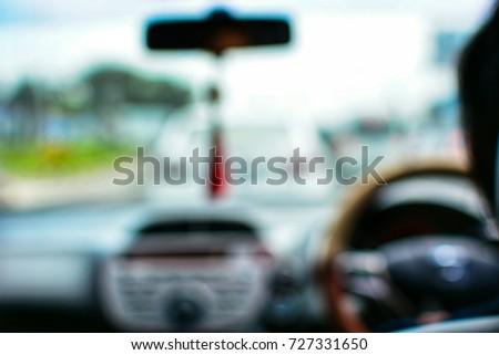 blurred driving a car  traffic...