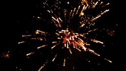 Blurred effect of firework in the sky