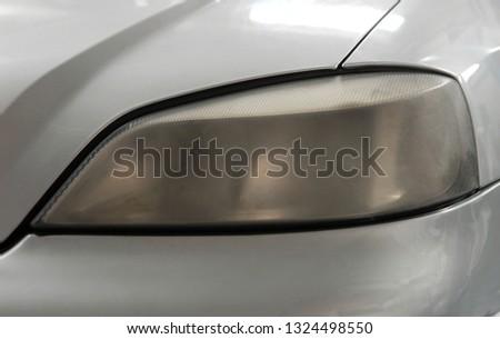 blurred headlights on the car #1324498550