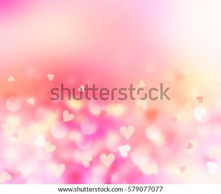 Blurred Hearts Valentine BackgroundPink Romantic Wedding WallpaperLove Symbol Backdrop