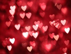 Blurred hearts. Valentines day background