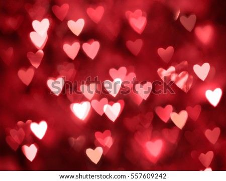 Blurred hearts. Valentines day background #557609242