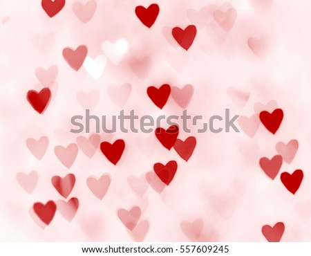 Blurred hearts. Valentines day background stock photo