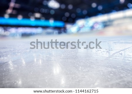 BLURRED ICE HOCKEY STADIUM BACKGROUND