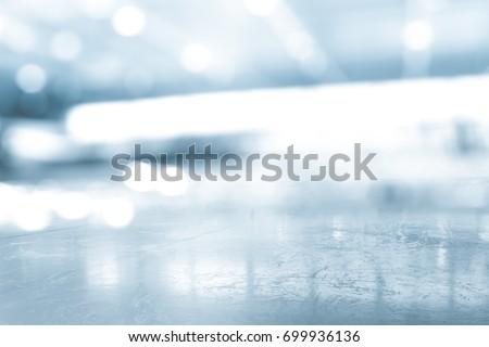 BLURRED ICE HOCKEY STADIUM, COLD BACKGROUND