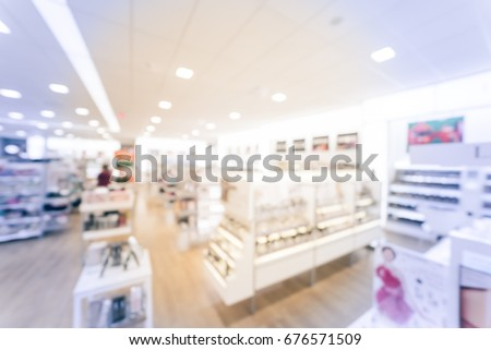 blurred image beauty stores...