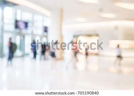 Blurred image of business people walking, Blur abstract background for business concept #705190840
