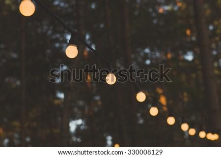 blurred image of light bulbs...
