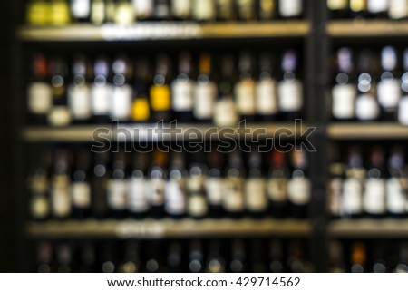 Blurred image of liquor shop for background uses. #429714562