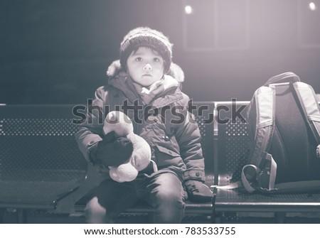 Free Photos Sad Boy Wait A Train With Hat Avopixcom