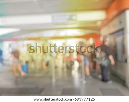 blurred image of people  multi...