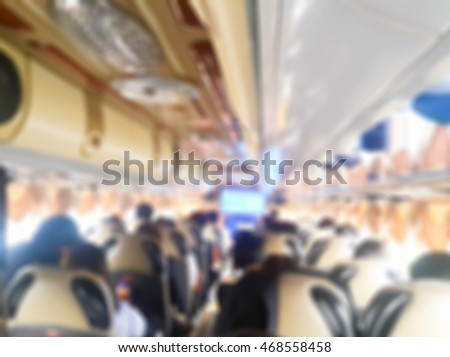 blurred image of people sit in the bus #468558458