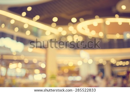 Blurred image of shopping mall and bokeh background - vintage effect style pictures. #285522833