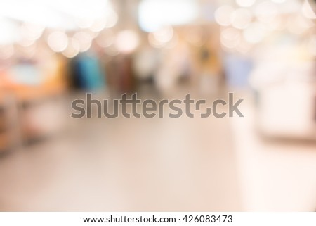 Blurred image  of shopping mall with bokeh #426083473