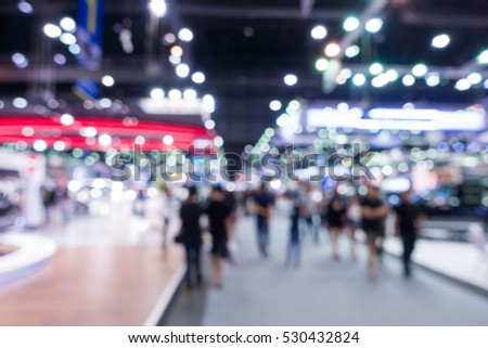 Blurred image of the International car show