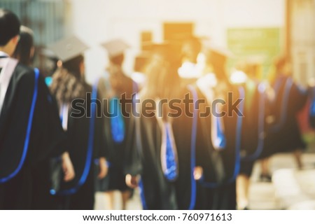 blurred image,the student graduation during commencement success graduates of the university, Concept education congratulation. Graduation Ceremony ,Congratulated the graduates in University.