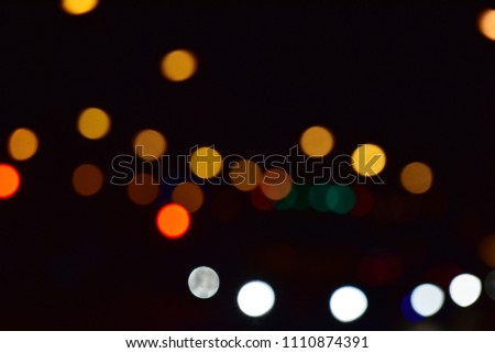 Stock Photo Blurred images and beautiful bokeh of light