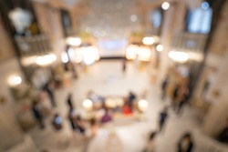 Blurred images of Atmosphere, banquet stage, elegant banquet in a large banquet hall