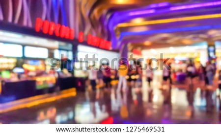 Blurred images of movie theaters. #1275469531