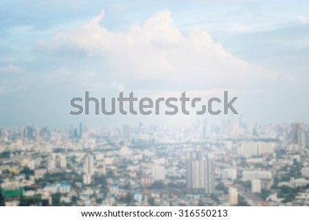 Blurred industrial city background concept. #316550213