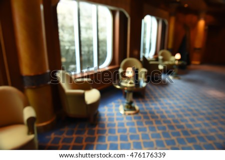 Blurred Interior of Cruise Ship