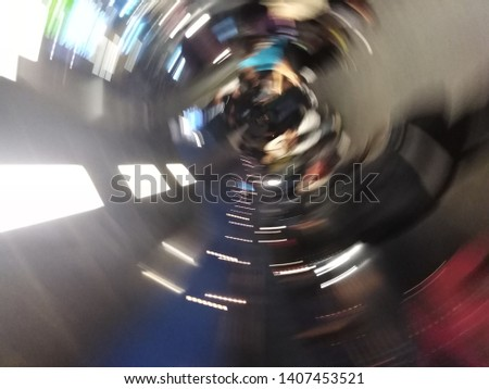 Blurred is Rotate the phone quickly and take a picture.