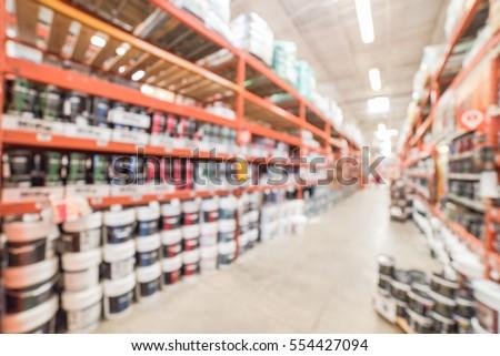 free photos blurred large hardware store in america defocused