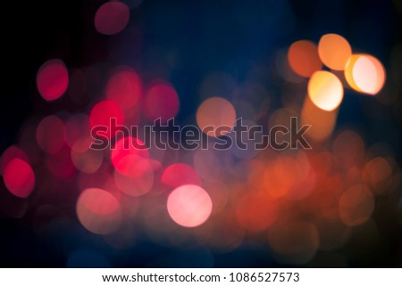 Blurred Lights Bokeh Background, Abstract Xmas Blur