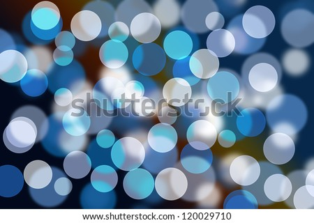 Blurred lights from a christmas lighting