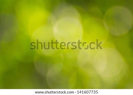 Blurred lights green bokeh abstract light background