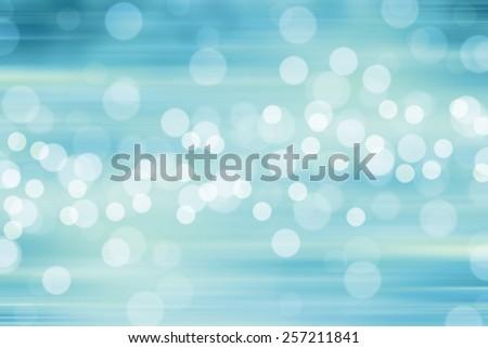 Blurred Lights on blue background or Lights on blue background. Filtered color.