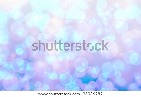 Blurred lights over purple and blue background