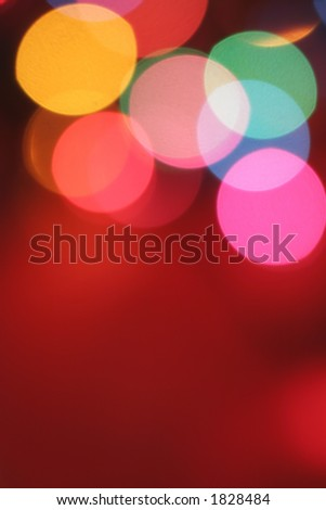 blurred lights with copy space