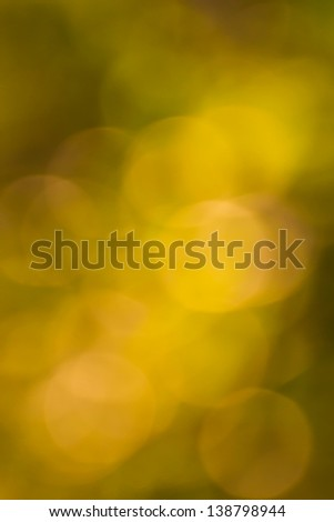 Blurred lights yellow bokeh abstract light background
