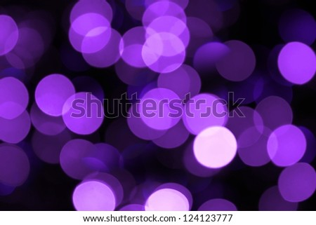 Blurred lilac lights holiday background