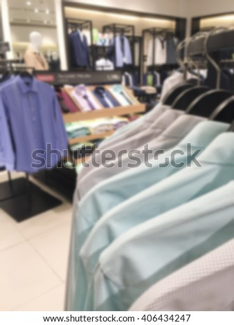 Blurred men shirt shop in the department store #406434247
