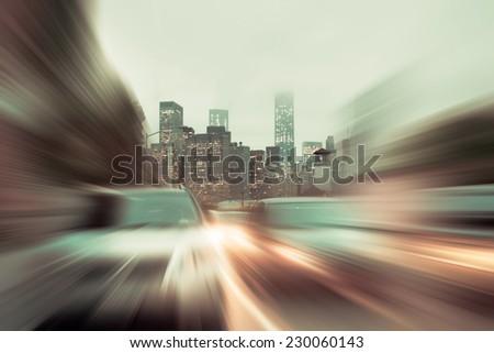 blurred motion