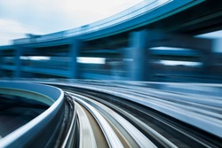 Blurred motion of Train moving, abstract background